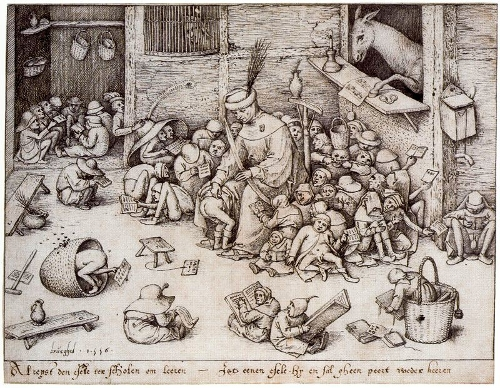 Pieter Bruegel, the Elder - The Ass at School